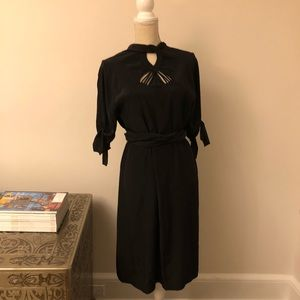 Diane Von Furstenburg Black Detailed Dress